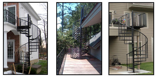 Spiral Stairs Are Great For Decks!