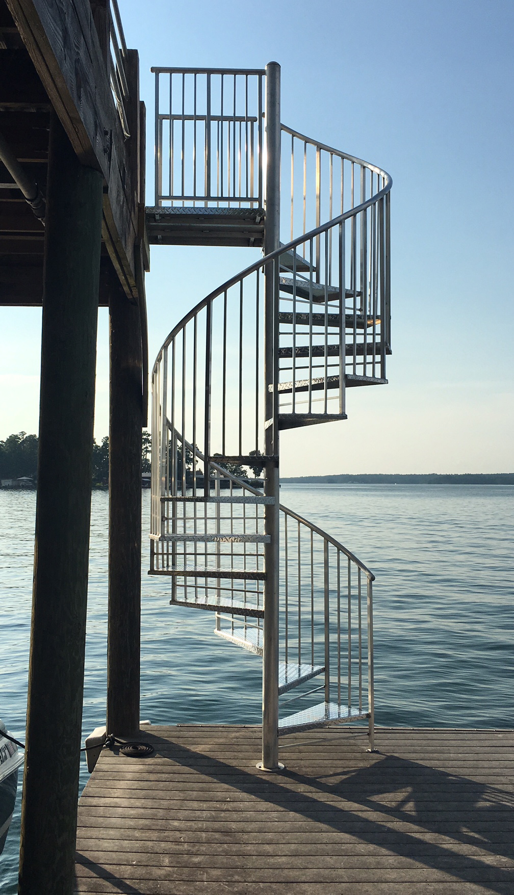 Best Aluminum Checkerplate Spiral Staircase Deck Large Jpg 400 x 300