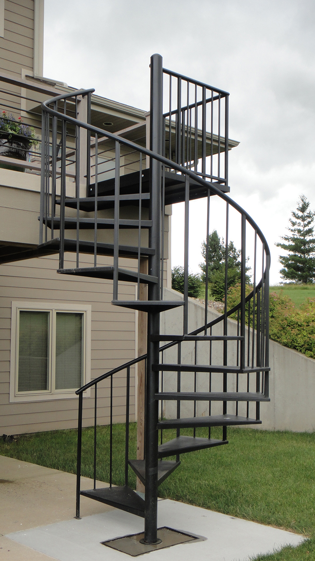 Spiral stairs and spiral staircases from innovative metal - Exterior metal spiral staircase cost ...