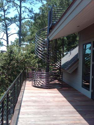 Horizontal Railing System Spiral Stairs From Spiral Stairs